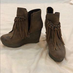 Shoes - Brown tassel wedges